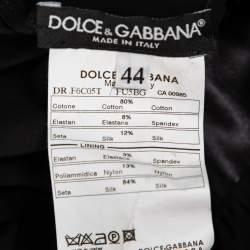 فستان ميدي دولتشي أند غابانا ب80٪ قطن ، 12٪ حرير ، 8٪ إيلاستين