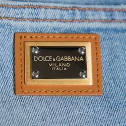 Dolce & Gabbana Light Blue Denim Tapered Leg Jeans S