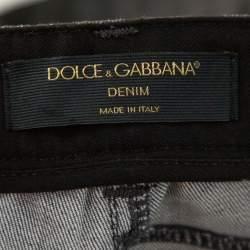 Dolce & Gabbana Grey Polka Dot Denim Skinny Jeans XS