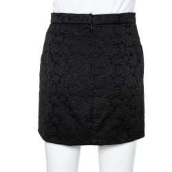 Dolce & Gabbana Black Floral Jacquard Mini Skirt S