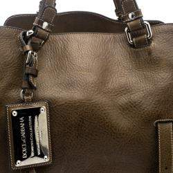 Dolce & Gabbana Brown Leather Miss Forever Tote