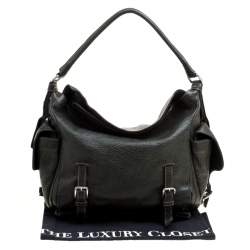 Dolce & Gabbana Mossy Green Leather Miss Forever Hobo