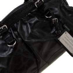 Dolce & Gabbana Black Leather Miss Romantique Satchel