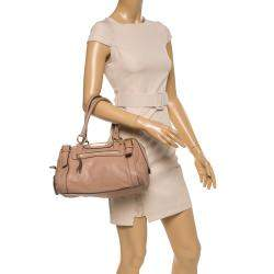 Dolce & Gabbana Beige Leather Boston Bag