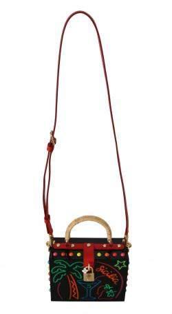 Dolce & Gabbana Black Plexi LED Light Sicily Bar Box Bag