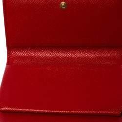 Dolce & Gabbana Red Leather Miss Sicily Smartphone Von Bag