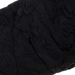 Dolce & Gabbana Black Fabric Baroque Clutch
