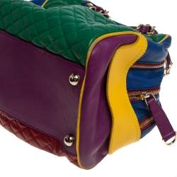 D&G Multicolor Leather Lily Glam Bowler Bag