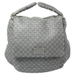 Dolce & Gabbana Grey Woven Leather Miss Lexington Bag