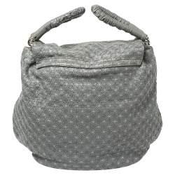 Dolce & Gabbana Grey Woven Leather Miss Lexington Bag