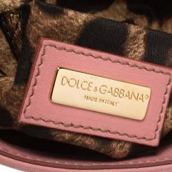 Dolce & Gabbana Pink Leather And Sequin Crossbody Bag