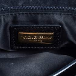 Dolce & Gabbana Animal Print Calf Miss Sicily Top Handle Bag