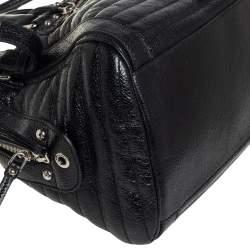 حقيبة بوسطن دولتشي أند غابانا ميس إيزي واي جلد أسود ميتاليك