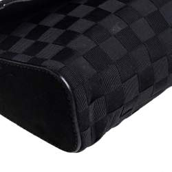 Dolce and Gabbana Black Woven Fabric Miss Charles Shoulder Bag