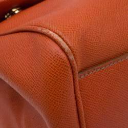 Dolce & Gabbana Orange Leather Medium Miss Sicily Tote