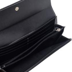 Dolce & Gabbana Black Jacquard Flap Continental Wallet