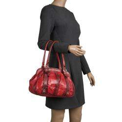 Dolce & Gabbana Red Python Satchel
