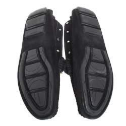 حذاء لوفرز دولتشي أند غابانا شعار الماركة معدن سليب أون سويدي أسود مقاس 41
