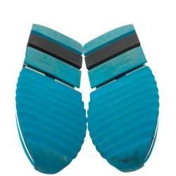 Dolce & Gabbana Blue/Black Stretch Fabric Sorrento Slip On Sneakers Size 41