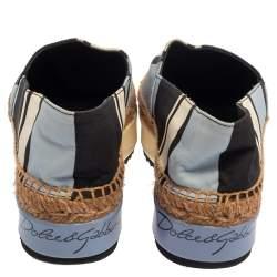 Dolce & Gabbana Multicolor Canvas Platform Espadrilles Size 36