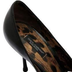 Dolce & Gabbana Black Patent Leather Pumps Size EU 37