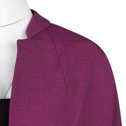 Dries Van Noten Pink Textured Open Front Cropped Jacket S