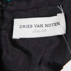 Dries Van Noten Black Contrast Sequin Paillette Embellished Crop Top S