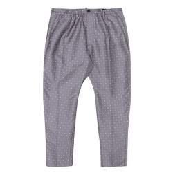 Dsquared2 Grey Contrast Floral Pattern Jacquard Pants XXL