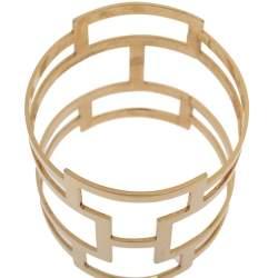 Dsquared2 Pale Gold Tone Patterned Cut Work Bangle Bracelet