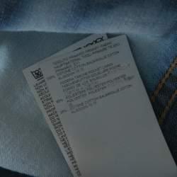 Dsquared2 Indigo Bleached Cotton Denim Jumspsuit M