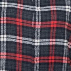 Dsquared2 Red & Grey Cotton Checked Flannel Shirt M