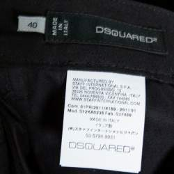Dsquared2 Black Cotton Twill Tapered Trousers M