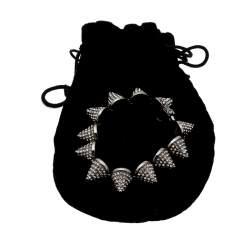 Eddie Borgo Crystal Pave Cone Gunmetal Tone Link Bracelet