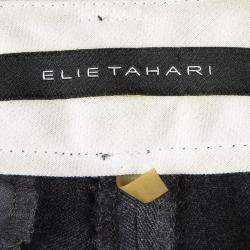 Elie Tahari Grey Wool Tailored Trousers S