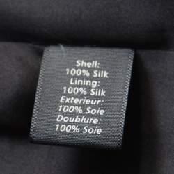Elizabeth & James Black Silk Open Back Detail Camara Dress M