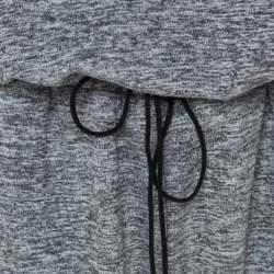 Elizabeth & James Grey Marled Jersey Cut Out Back Azia Jumpsuit L