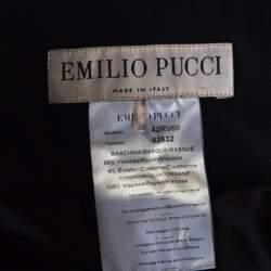 Emilio Pucci Black Draped Jersey Asymmetric Mini Skirt S