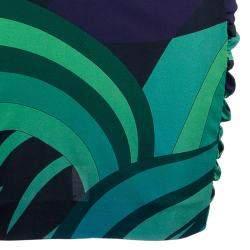 Emilio Pucci Printed Long Sleeve Dress S
