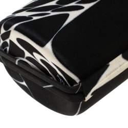 حقيبة كلاتش إيميليو بوتشي ساتان بيضاء/ سوداء