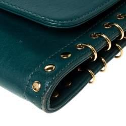 حقيبة كتف ايميليو بوتشي بسلسلة جلد تركواز