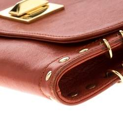 حقيبة كتف ايميلو بوتشي سلسلة مزينة بحلقة جلد بني نحاسي