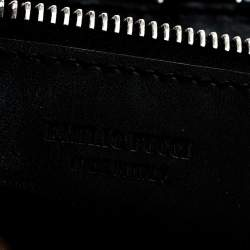حقيبة كتف ايميليو بوتشي ماكرام بشراريب قماش سوداء