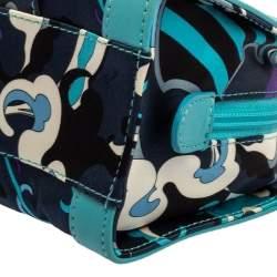 Emilio Pucci Multicolor Satin and Leather Chain Bag