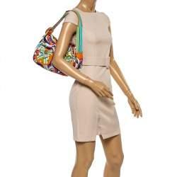 Emilio Pucci Multicolor Printed Fabric Double Pocket Shoulder Bag