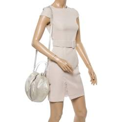 Emilio Pucci Vanilla Shimmer Leather Zip Detail Top Handle Bag