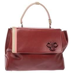 Emilio Pucci Tri Color Leather Pilot Top Handle Bag