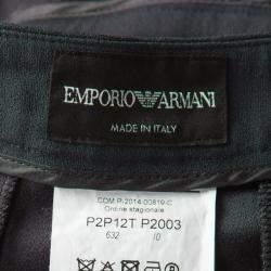 Emporio Armani Grey Contrast Paneled Trousers L