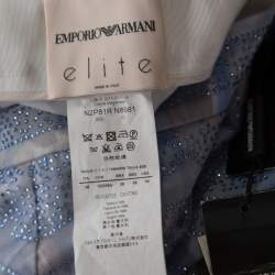 Emporio Armani Elite Blue Crystal Embellished Trousers S