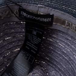 Emporio Armani Grey Ombre Fedora Straw Hat Size 57
