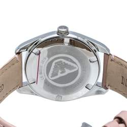 Emporio Armani Mother Of Pearl Two-Tone Stainless Steel Leather AR6133 Women's Wristwatch 36 mm